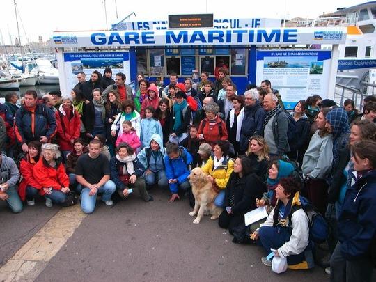 participants à la frioulade de 2009