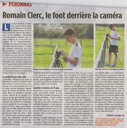 Articile_voix_de_l_ain__romain_clerc__le_foot_derri_re_la_cam_ra