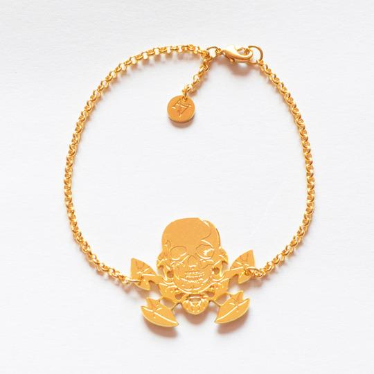 B-skull-gold