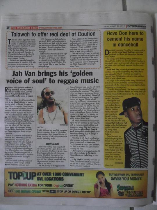 Jah_van_i_s_jamaican_star_newspaper_feature_august_2k12