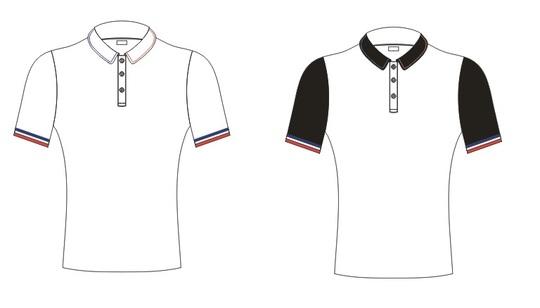 Polo_blanc_et_polo__blanc_avec_manche_et_col_noir__sans_logo_