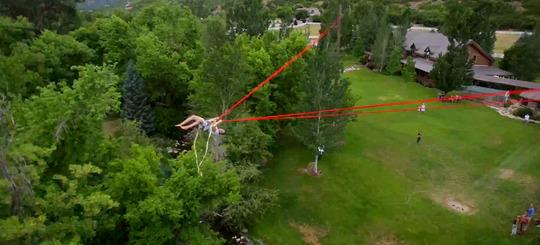 Human-bungee-slingshot