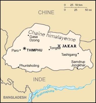 Carte_bhoutan